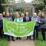 •HDC Parks and Countryside team with Cllr Roger Noel and Friends of Horsham Park