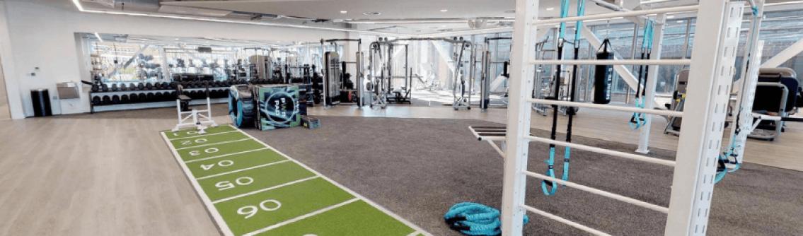 Gym equipment inside The Bridge leisure centre