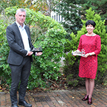 Sussex Building Control Steve Sorrocks and Helen Gaffney Gaffney Architecture with their awards