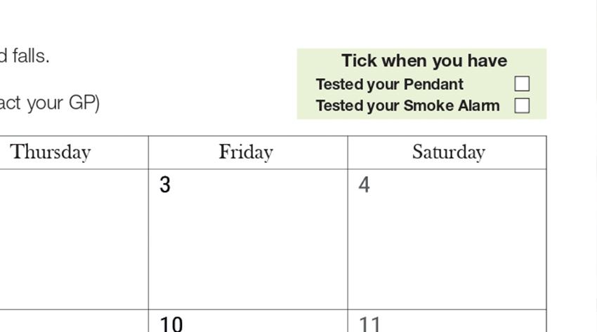 Communtiy Link calendar's tick box