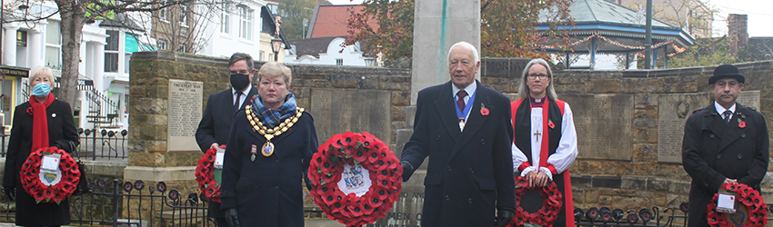 WSCC Cllr Millson Jeremy Quin MP HDC Chairman & Vice Chairman Bishop of Horsham RBL representative