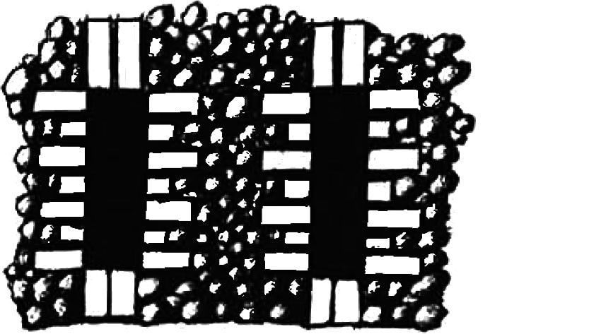 Patterned brick and flintwork example