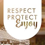 Respect Protect Enjoy visual branding