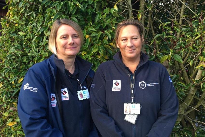 Pulborough wardens Carol Boniface (left) and Vanessa Green (right)