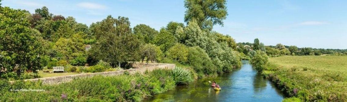Kayakers on the River Arun at Pulborough