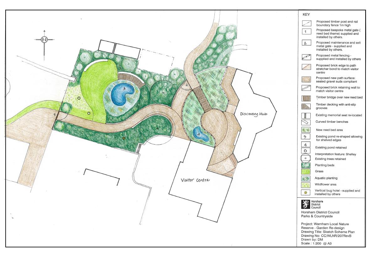 Warnham Discover Hub garden map