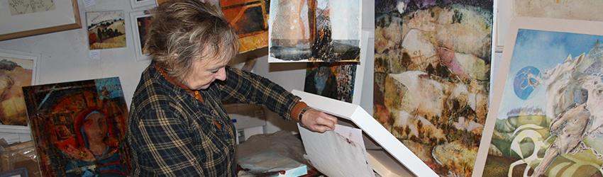 Alison Milner-Gulland in her Washington studio