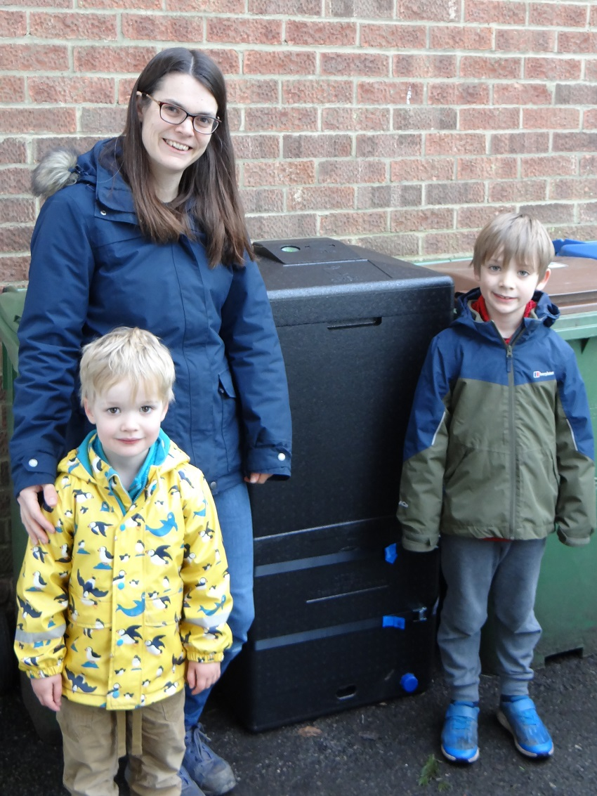The Hall family with their Hot Bin