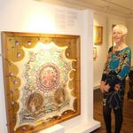 •Artist Judith Hurst with one of her Illuminations works Asymmetric Symmetry