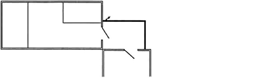 A small linking extension reduces sub-divisions between buildings