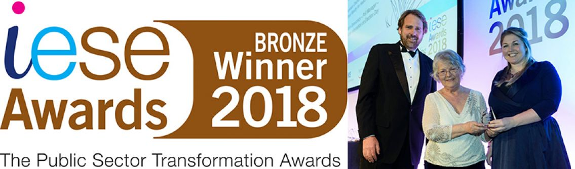 Winning the Bronze Innovation Award at the iESE Awards 2018 for our Virtual Reality for Health experience