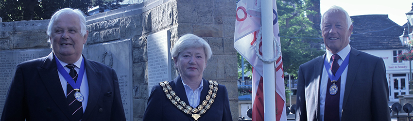 Armed Forces Day flag raised by Cllr Peter Burgess, Chairman Cllr Karen Burgess and Vice Chairman Cllr David Skipp