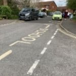 The yellow zig zag lines on the road at Kingslea primary school indicate no parking allowed