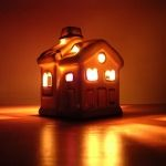 Model house lit up