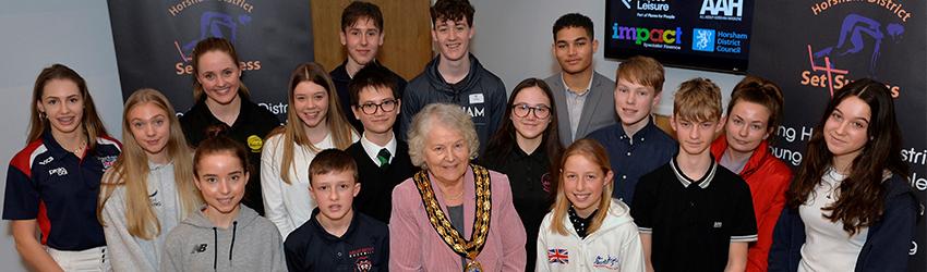 HDC Chairman Kate Rowbottom with the award winners