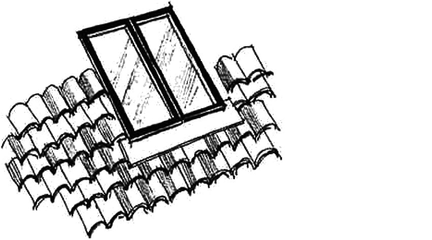 New rooflights should be flush with tiles