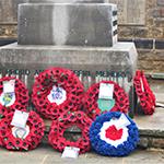 Wreaths at Horsham Memorial
