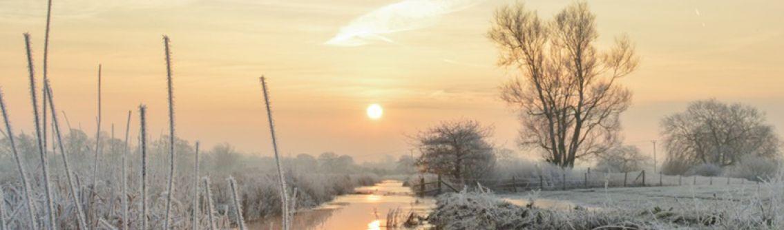 Frosty sunrise at Partridge Green, taken by 2021 Community Link calendar competition winner Emma Varley