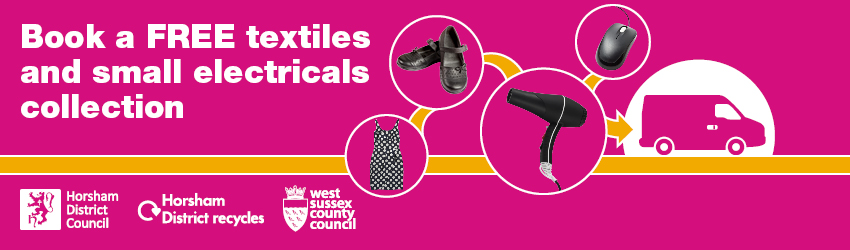 Book a free textiles and small electricals collection