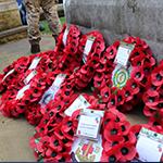 Remembrance service wreaths
