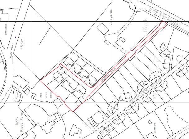 Location plan with red line to mark out boundary